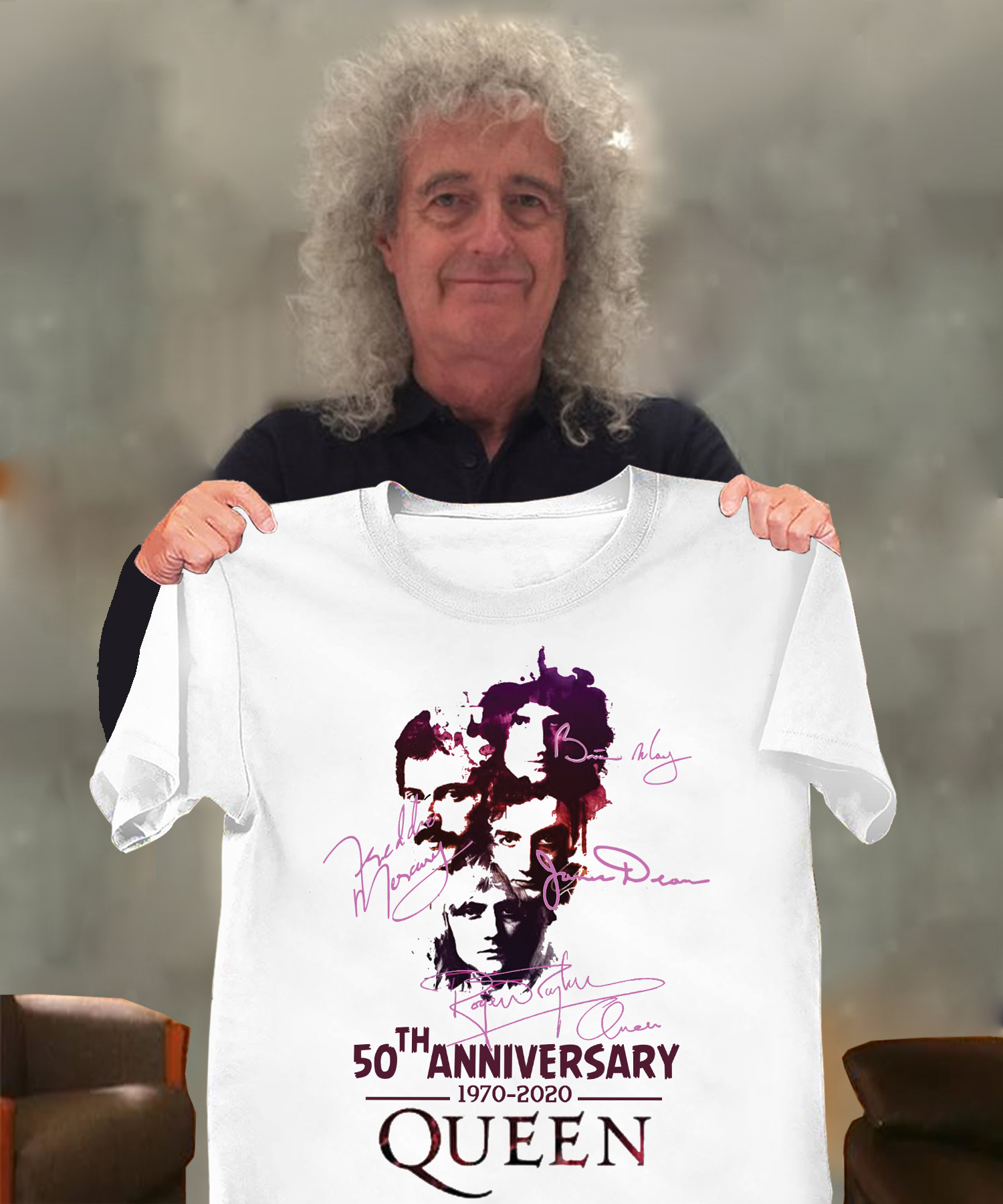 50th anniversary 1970-2020 queen Long Sleeve T-Shirt