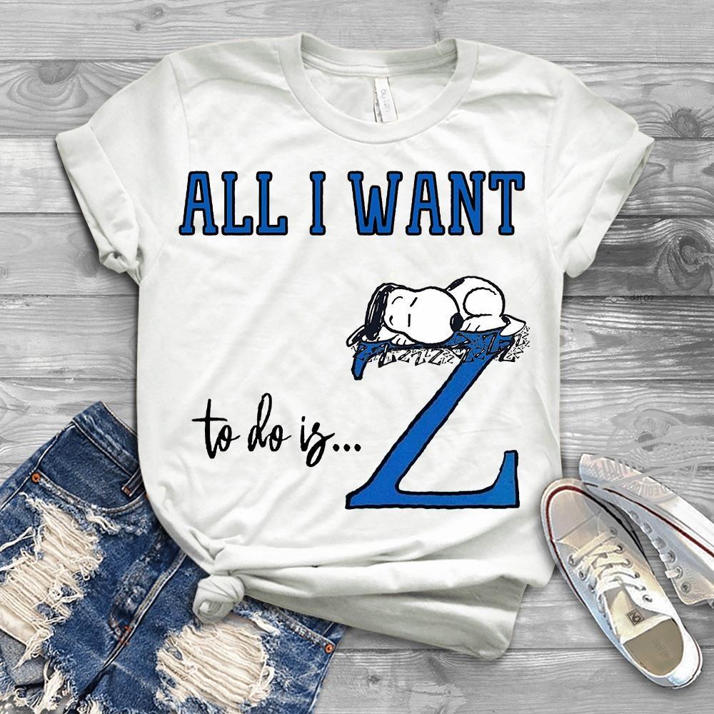 All I Want To Do Is Sleep Snoopy Long Sleeve T-Shirt