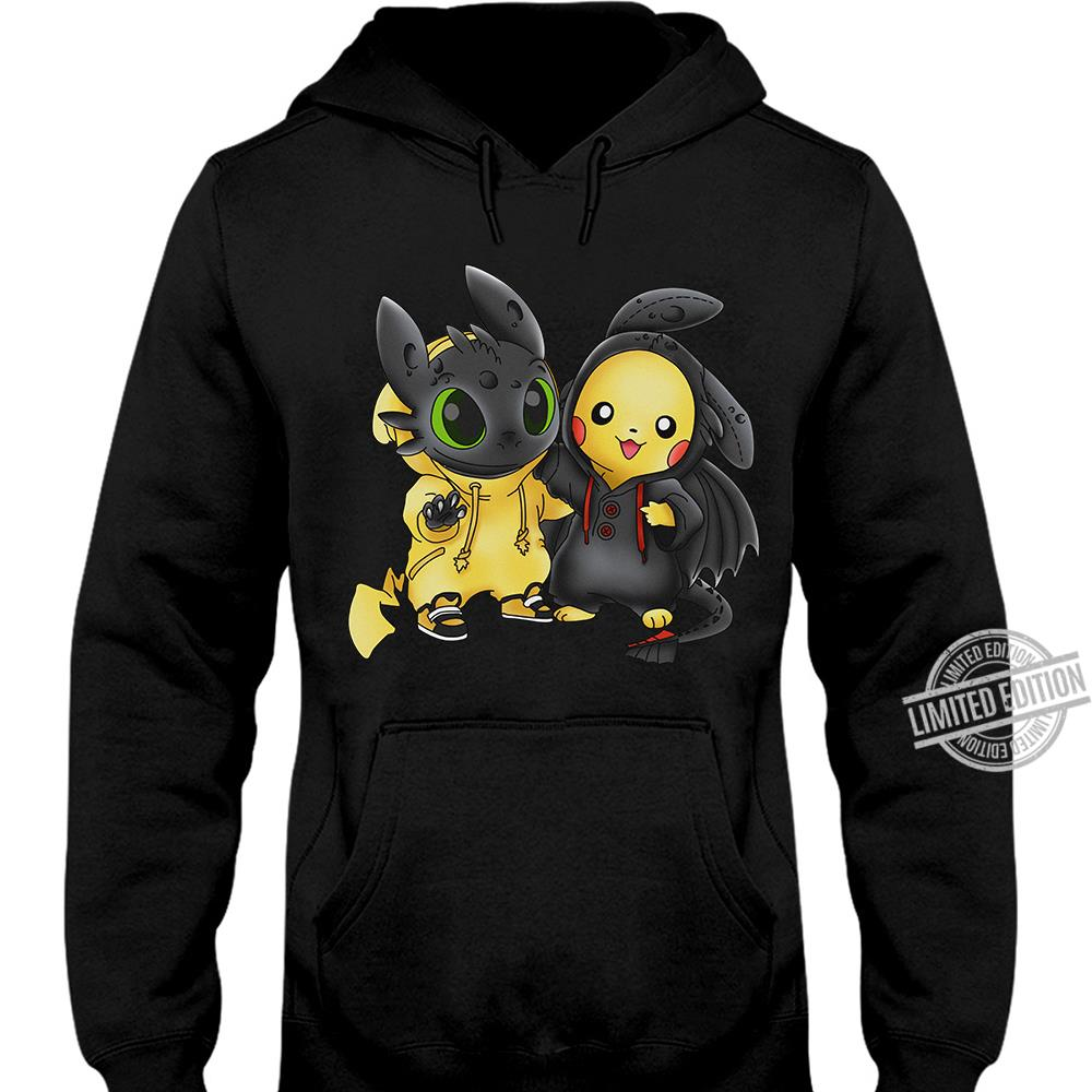 Baby Night Fury And Baby Pikachu Long Sleeve T-Shirt