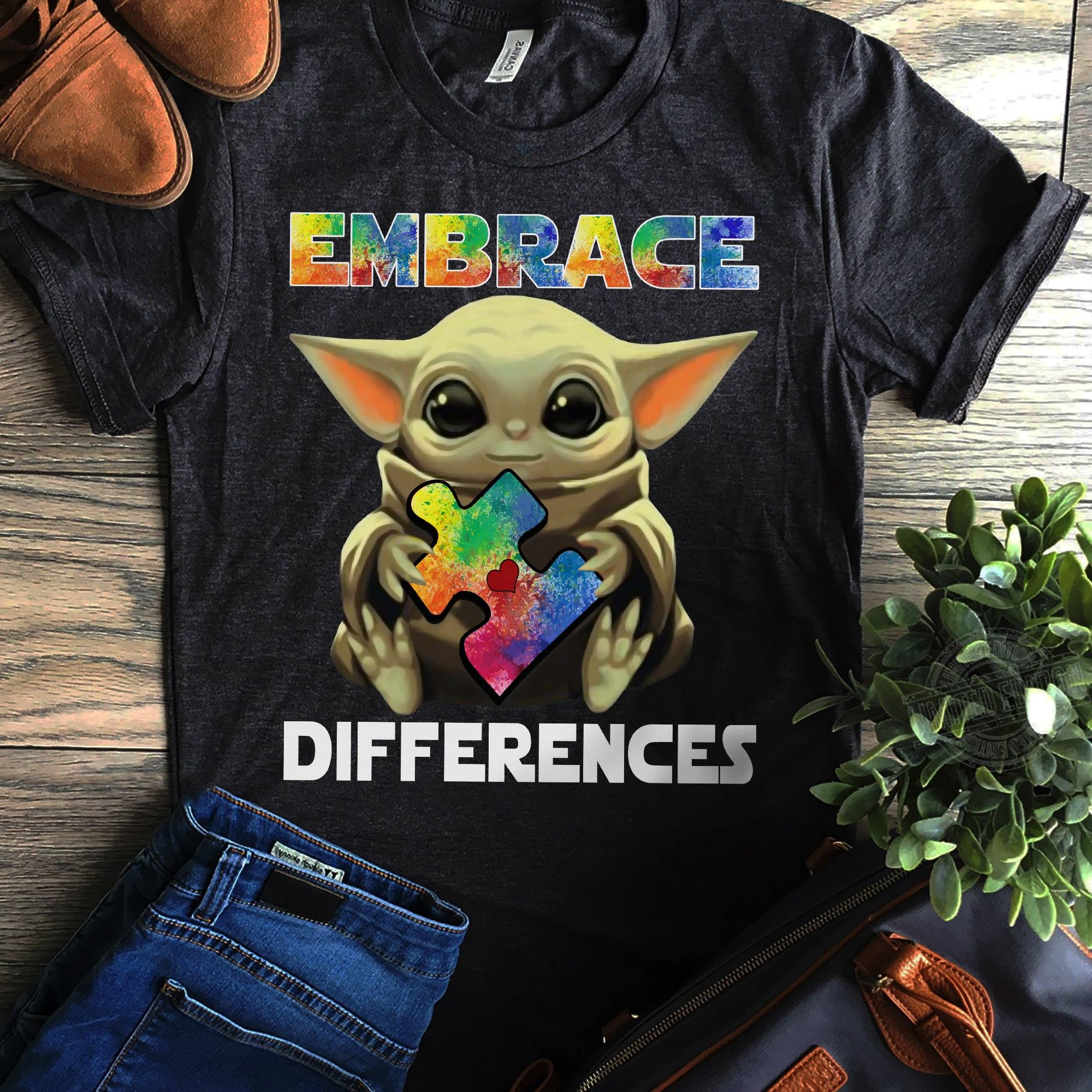 Baby Yoda Embrace Differences Hoodie