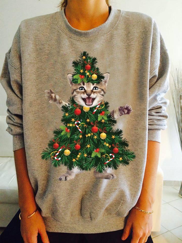 Cat tree christmas Women T-Shirt