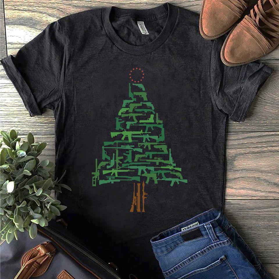 Christmas Tree Green Gun Sweatshirt