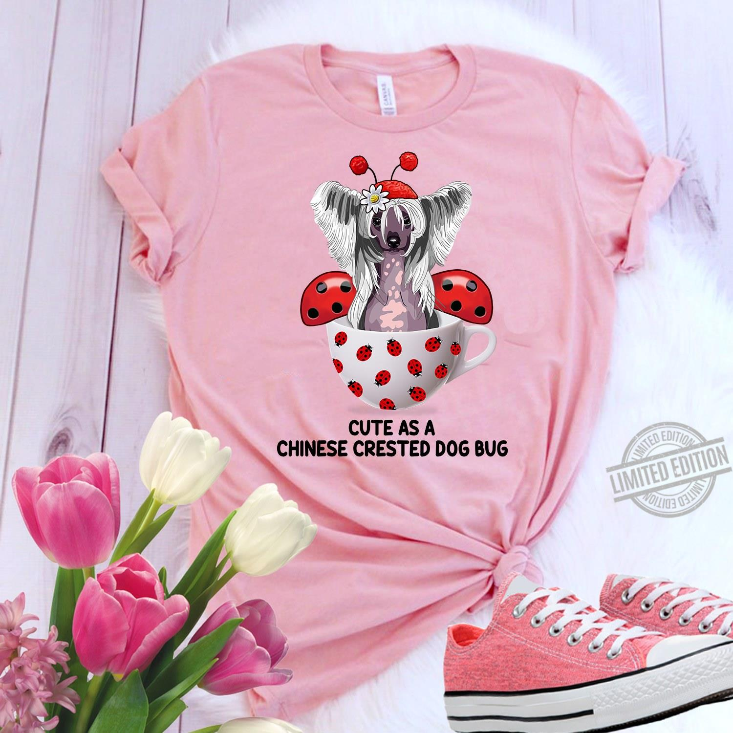Cute As A Chinese Crested Dog Bug Women Jersey Tank Top