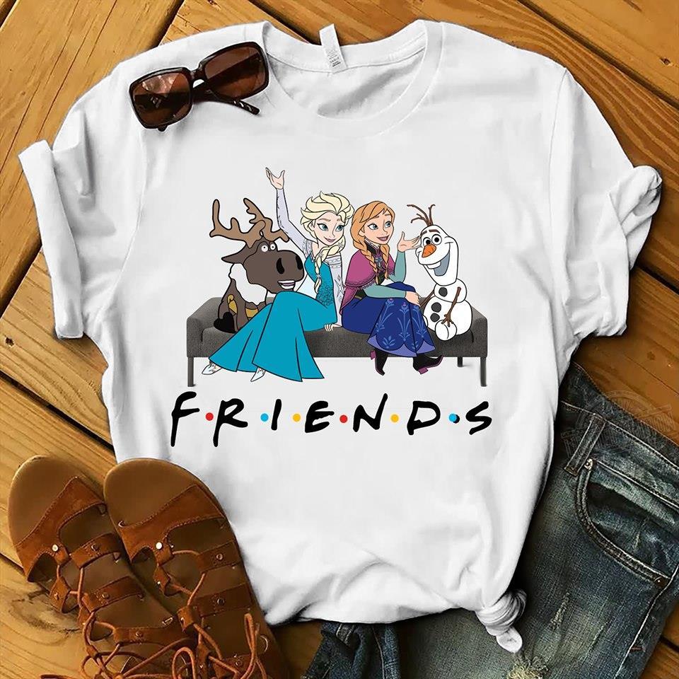 Disney Frozen Friends TV show Women Jersey Tank Top