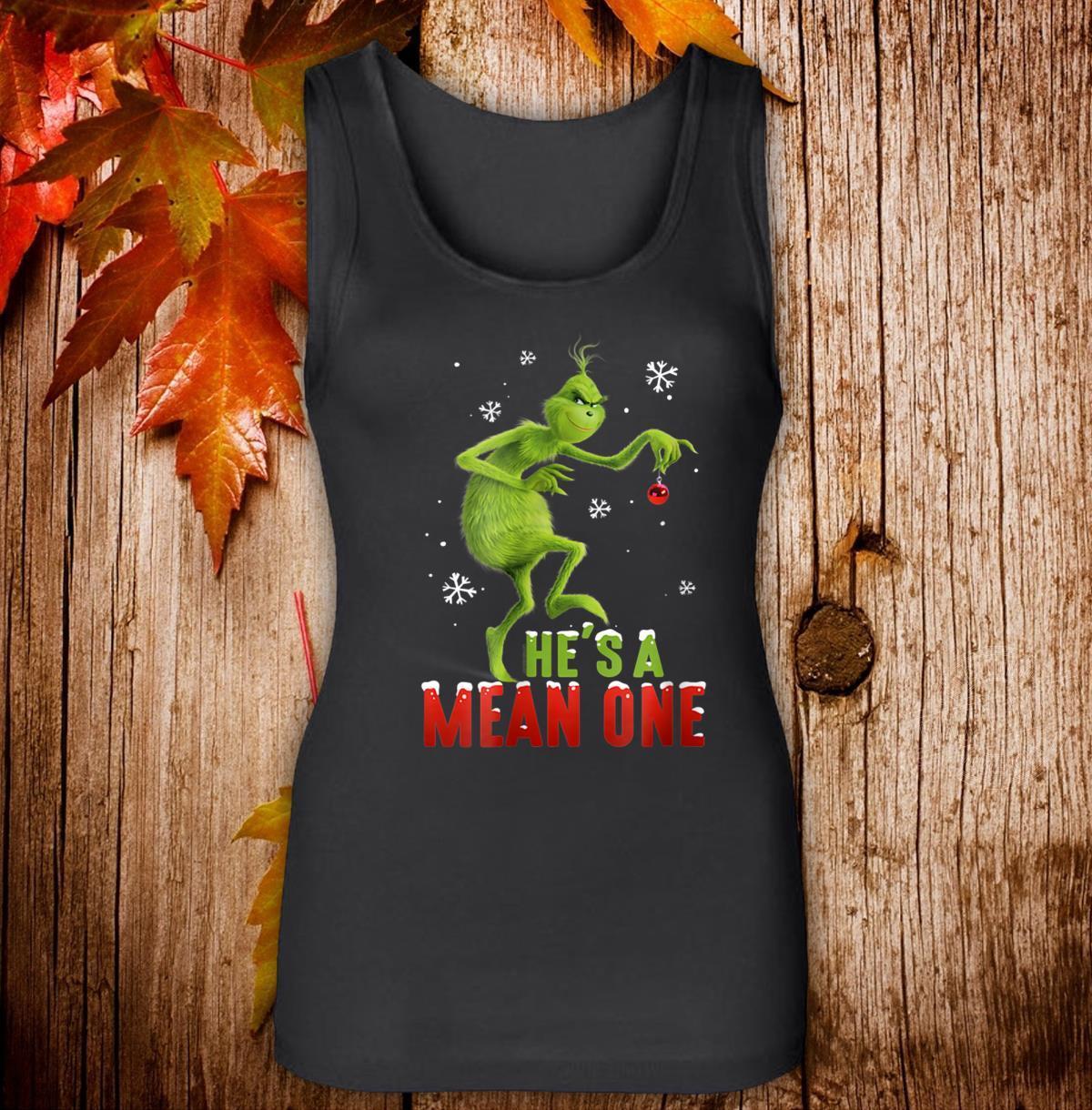Dr. Seuss The Grinch Mean One Women Jersey Tank Top