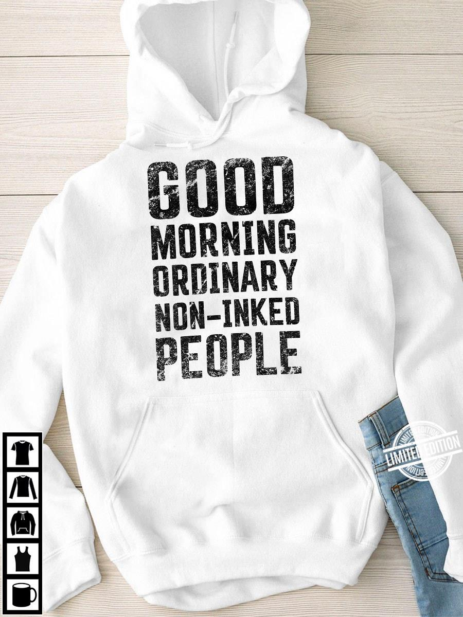 Good Morning Ordinary Non Inked People Women Jersey Tank Top