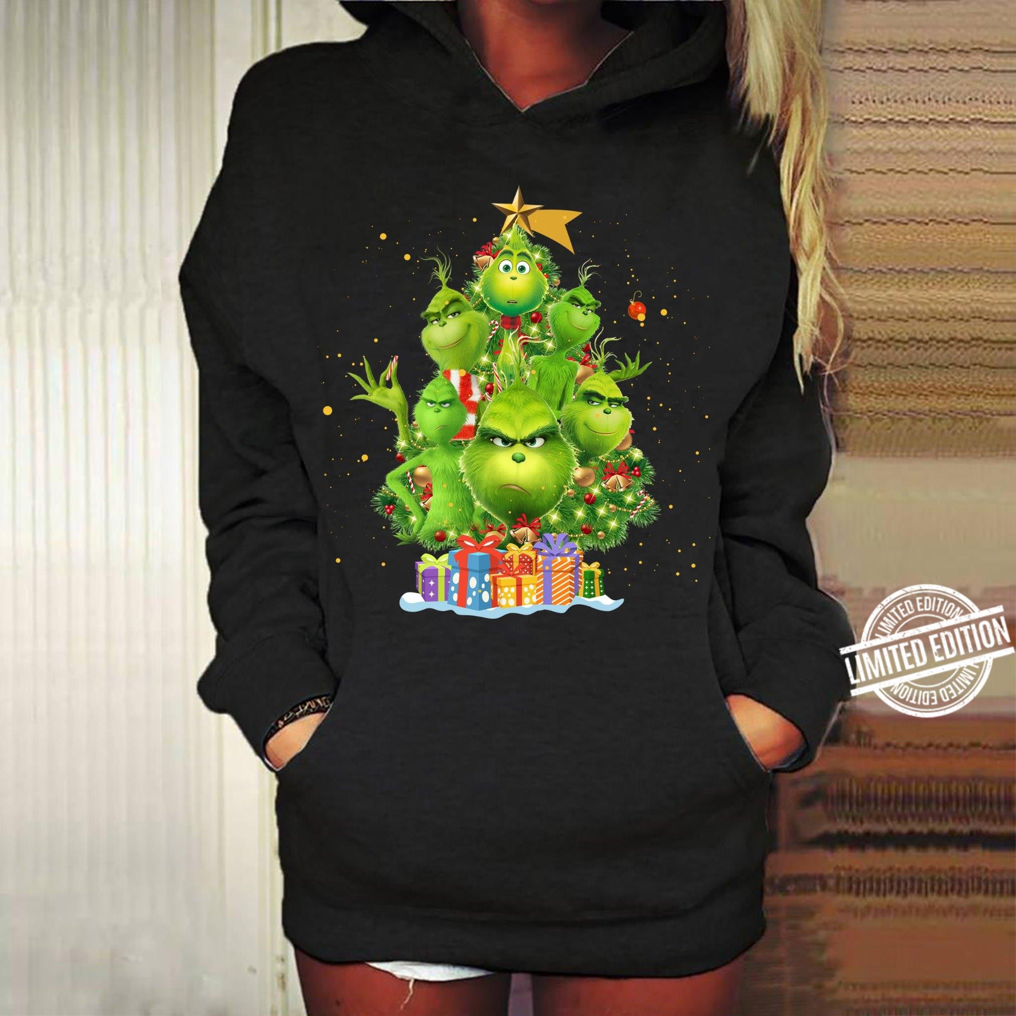 Grinch Christmas Tree Women T Shirt