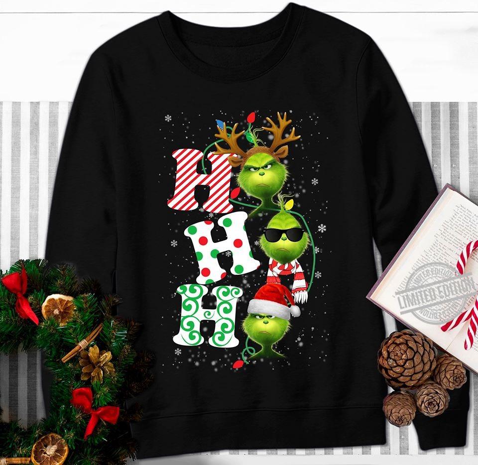 Grinch Ho Ho Ho Christmas Women Jersey Tank Top