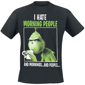 Grinch I Hate Morning People And Morning And People Hoodie