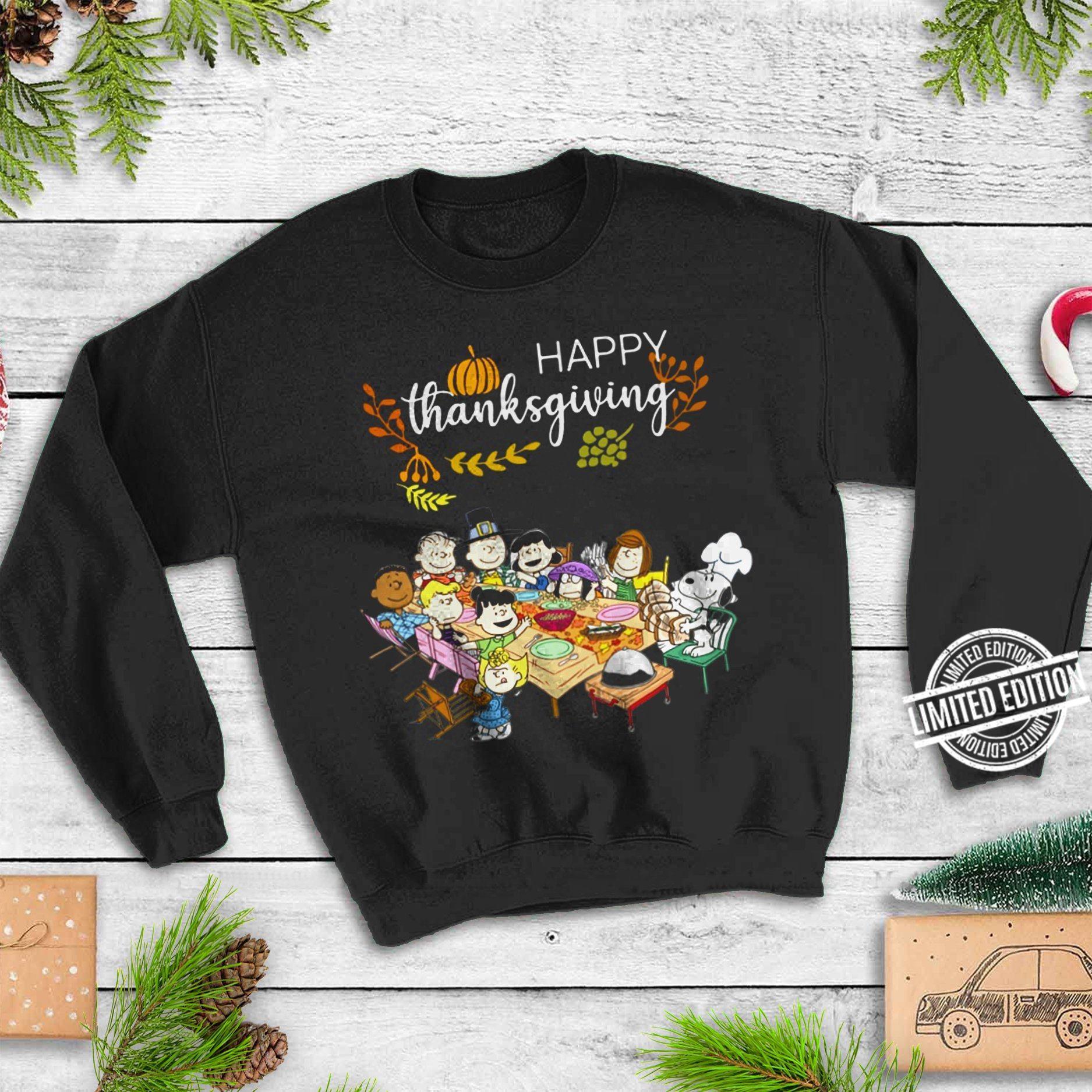 Happy Thnksgiving Snoopy Women T-Shirt