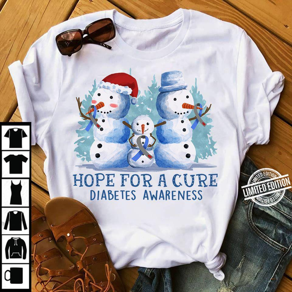 Hope For A Cure Diabetes Awareness Women T-Shirt