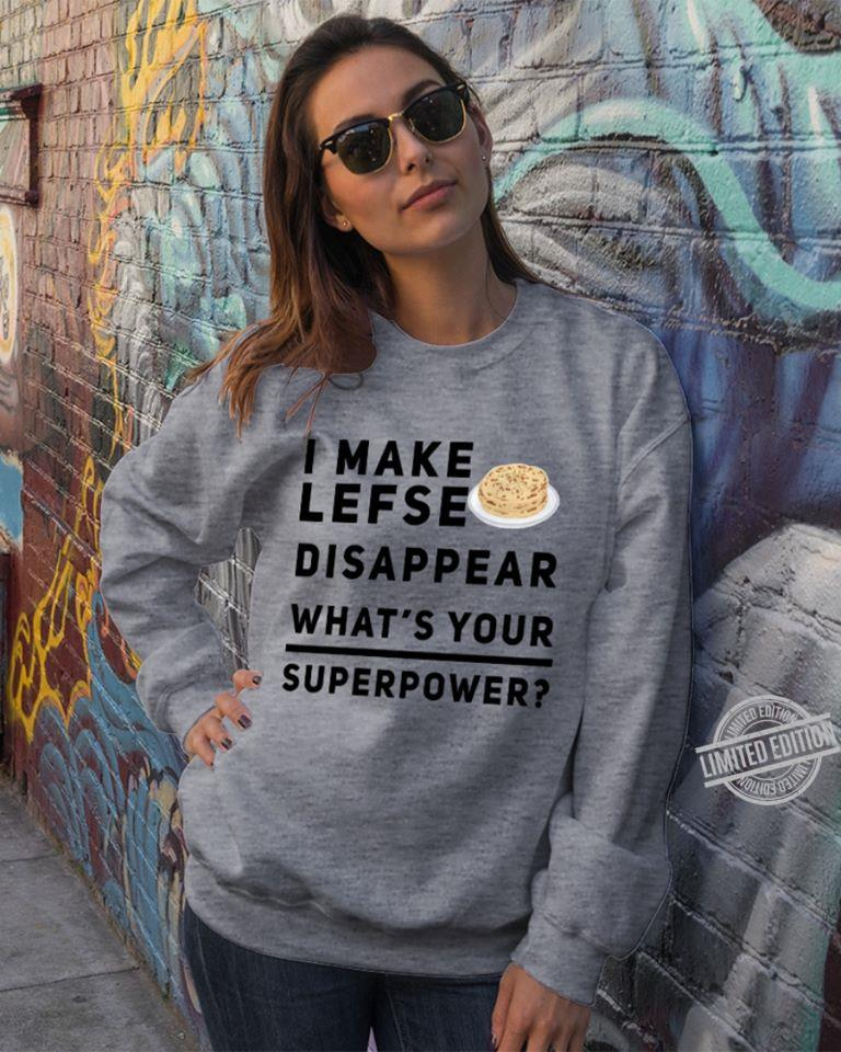 I Make Lefse Disappear What's Your Superpower Women Jersey Tank Top