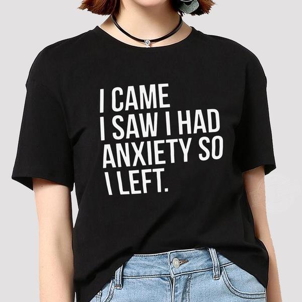 I came I saw I had anxiety so I left Women Jersey Tank Top