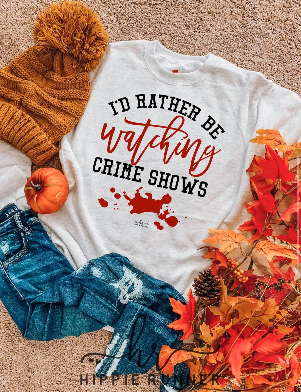 I'd rather be watching crime shows Women Jersey Tank Top