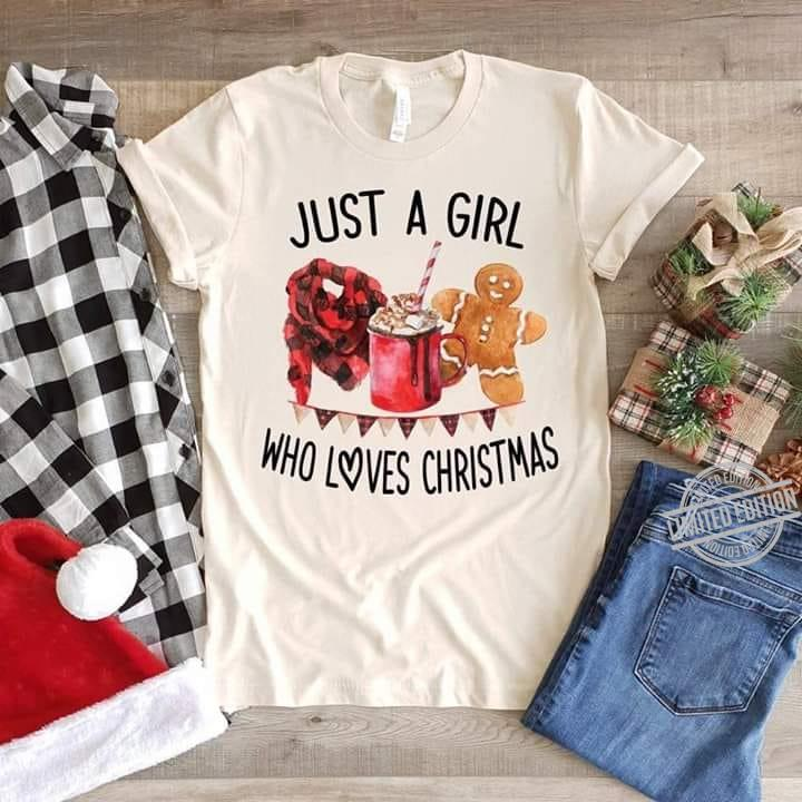 Just A Girl Who Loves Christmas Men T-Shirt