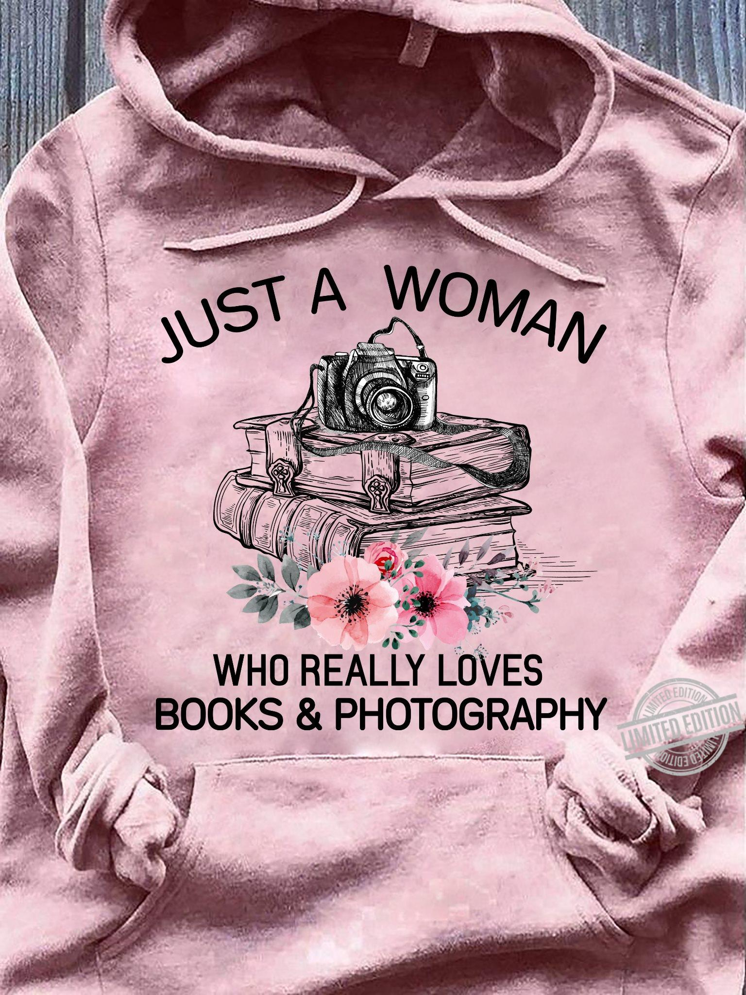 Just A Woman Who Really Loves Books & Photography Men T-Shirt