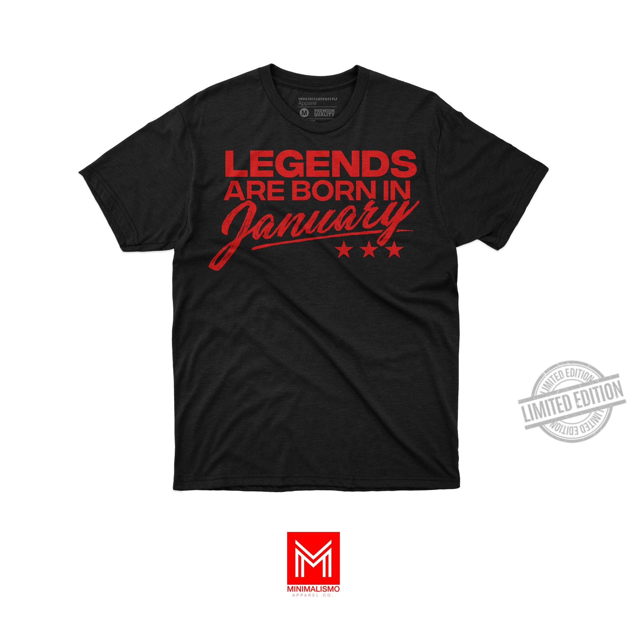 Legends Are Born In January Men T-Shirt
