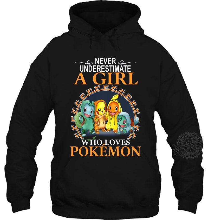 Never Underestimate A Girl Who Loves Pokemon Women T-Shirt