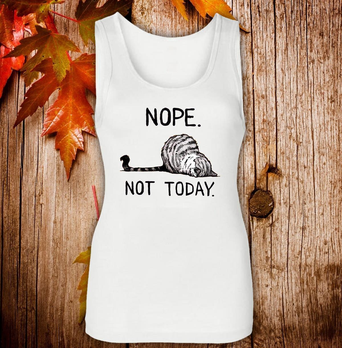 Nope not today cat Women Jersey Tank Top