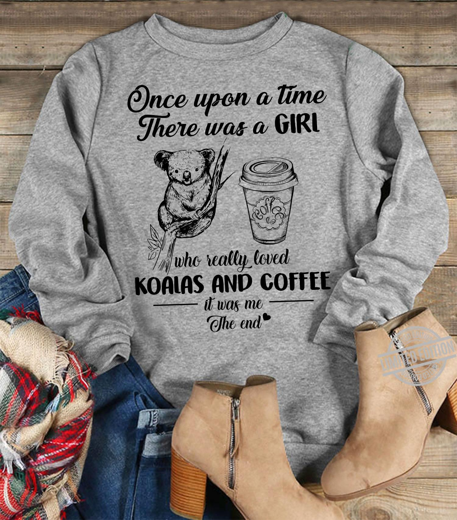 Once Upon A Time ThereWas A Girl Who Really Loved Coffee And Koalas  Women Jersey Tank Top