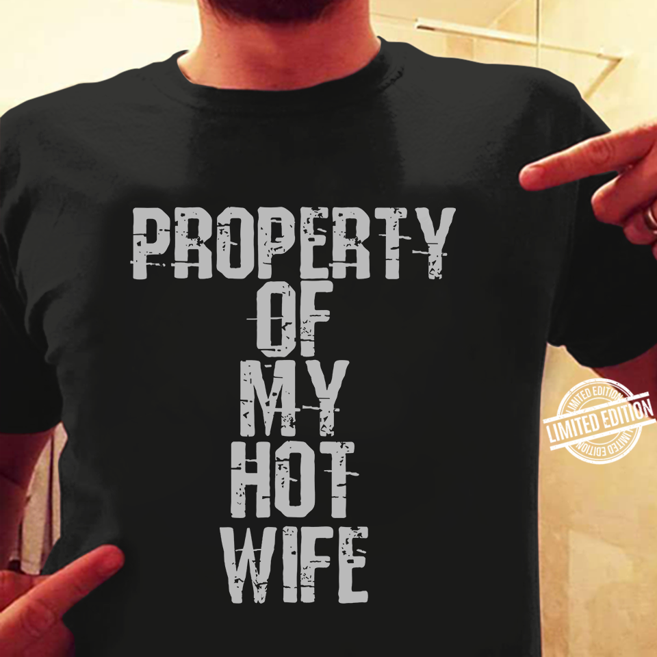 Property Of My Hot Wife Women Jersey Tank Top