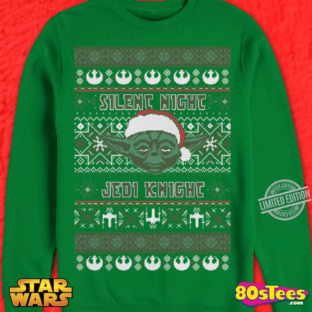 Silent Night Jedi Knight Santa Yoda Christmas Men T-Shirt