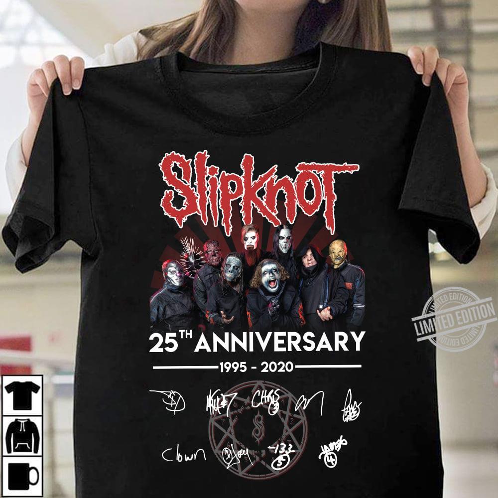 Slipknot 25th Unniversary 1995-2020 Signature Hoodie