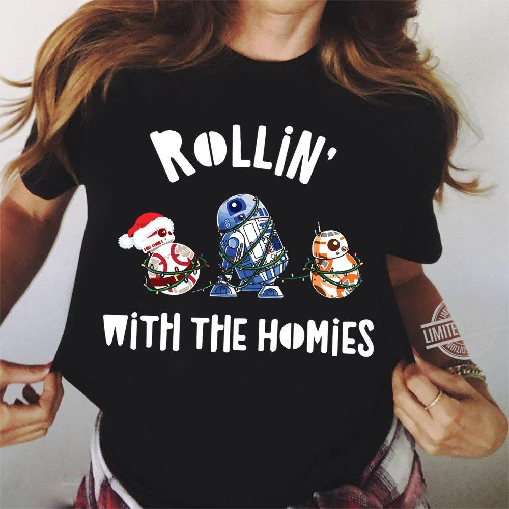 Star Wars Rollin' With The Homies R2 D2 Christmas Long Sleeve T-Shirt