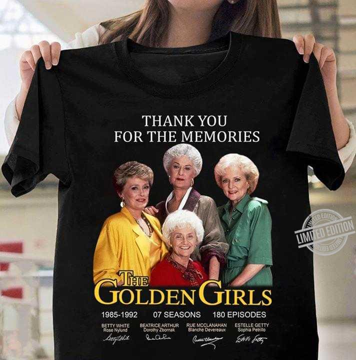 Thank You For The Memories The Golden Girls Signatures Long Sleeve T-Shirt