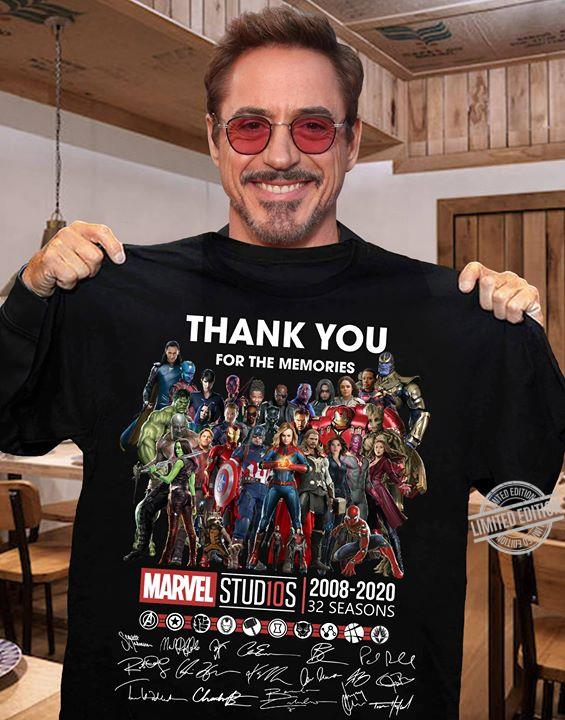 Thank You For The memories Marvel Studios 2008 2020 32 Seasons Long Sleeve T-Shirt