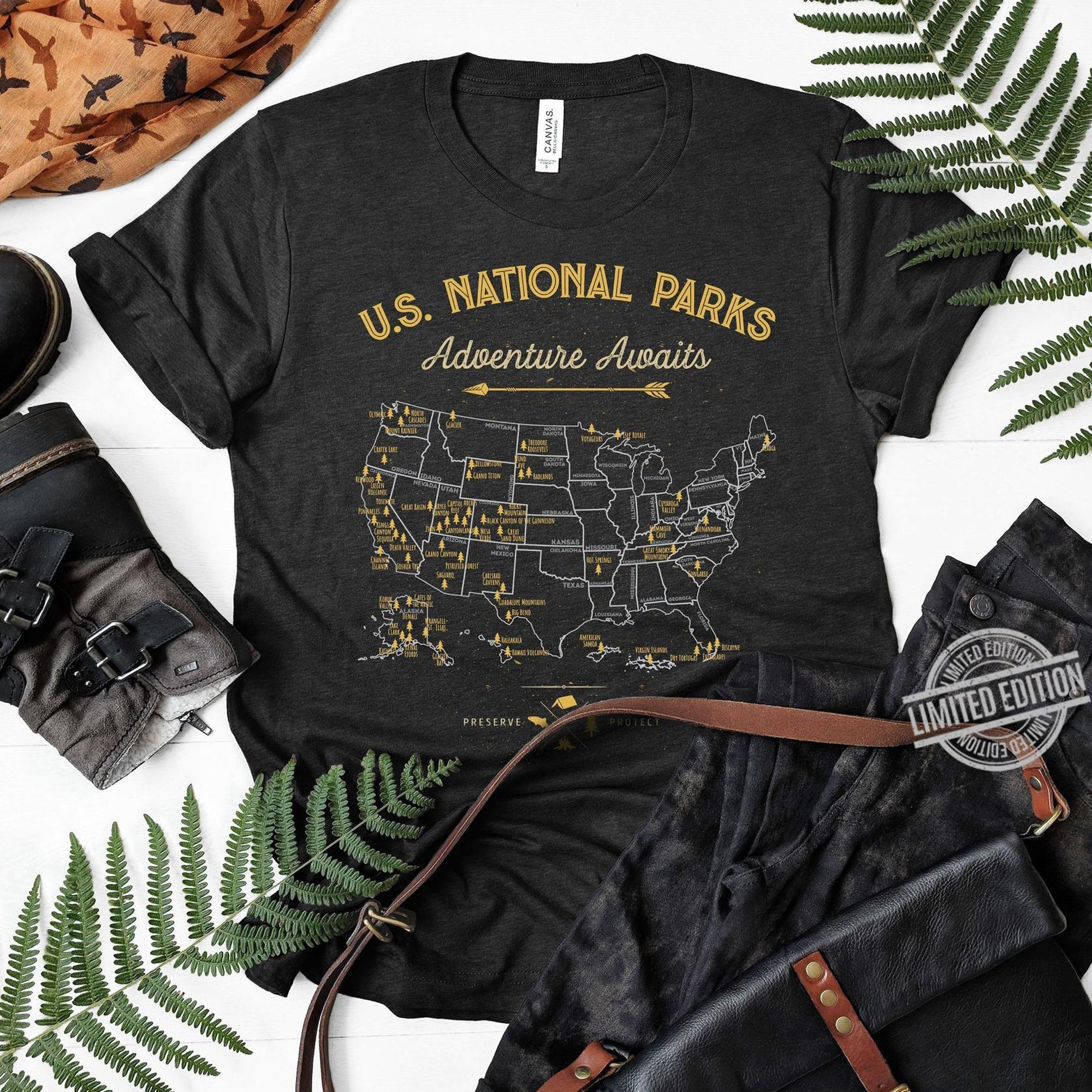 US National Parls Adventure Awaits Sweatshirt