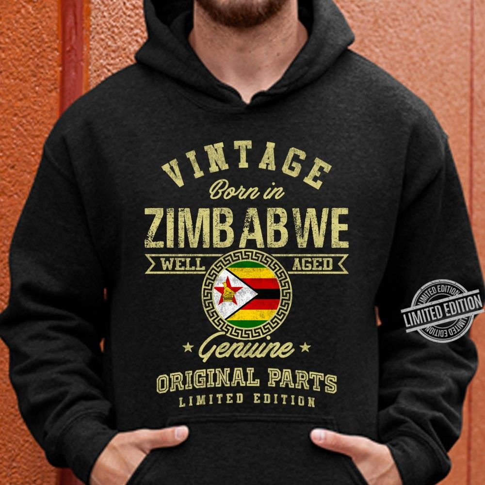 Vintage Born In Zimbabwe Well Aged Genuine Original Parts Limited Edition Men T-Shirt