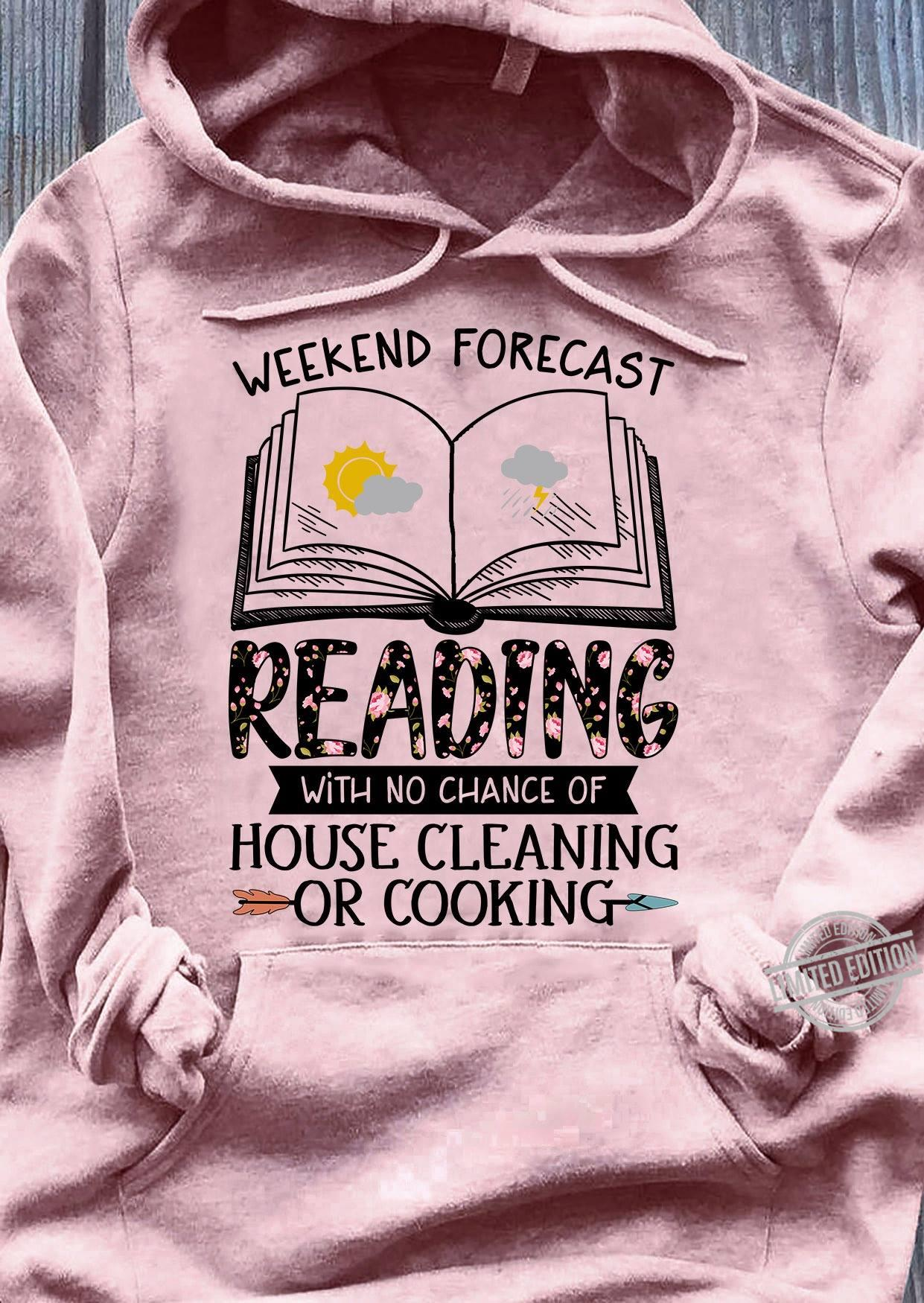 Weekend Forecast Reading With No Chance Of House Cleaning Or Cooking Women Jersey Tank Top