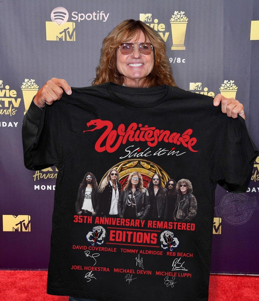 Whitesnake Slide It In 35Th Anniversary Remastered Edition Signature Long Sleeve T-Shirt
