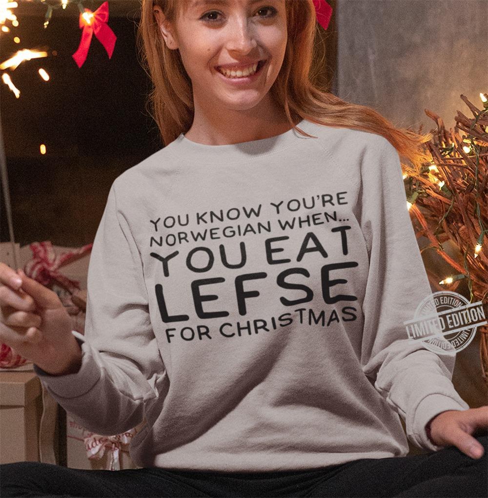 You Know You're Norwegian When You Eat Lefse For Christmas Women Jersey Tank Top